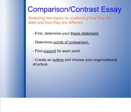 How To Write A Thesis Statement For An Essay Picture How To Write A Essay Proposal also Romeo And Juliet Essay Thesis Compare  Contrast Essay  Advanced Composition High School Admission Essay Samples